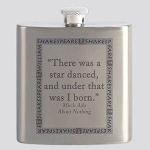 There Was A Star Danced Flask