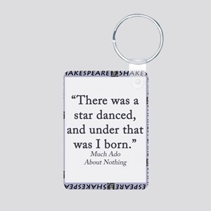 There Was A Star Danced Aluminum Photo Keychain