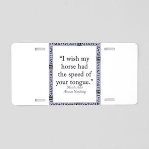 I Wish My Horse Aluminum License Plate
