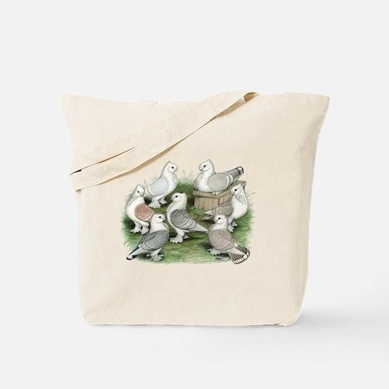 Classic Frill Pigeons Tote Bag