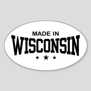Made In Wisconsin Sticker (Oval)