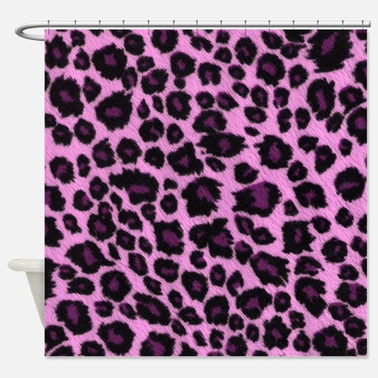Purple Leopard Print Shower Curtain