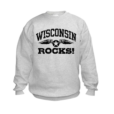 Wisconsin Rocks Kids Sweatshirt