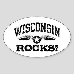 Wisconsin Rocks Sticker (Oval)