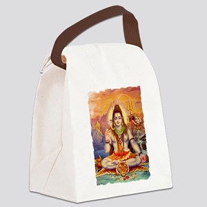 Lord Shiva Meditating Canvas Lunch Bag