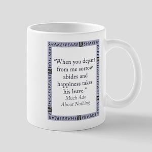 When You Depart From Me 11 oz Ceramic Mug