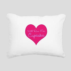 Will Run For Cupcakes Rectangular Canvas Pillow