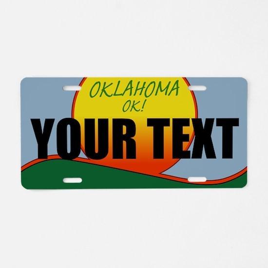 Custom Oklahoma OK! License plate replica