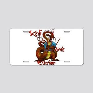 Kali, Arnis, Eskrima Dragon Aluminum License Plate