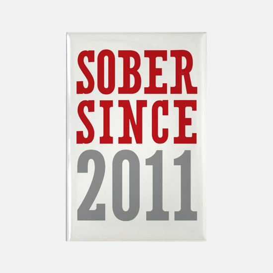 Sober Since 2011 Rectangle Magnet