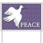 Peace / Dove Yard Sign