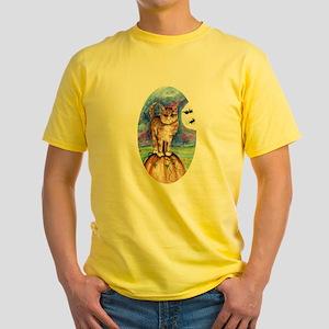 Kitty Cat Meow Yellow T-Shirt