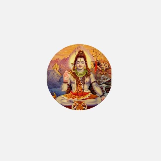 Lord Shiva Meditating Mini Button