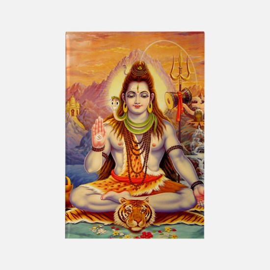 Lord Shiva Meditating Rectangle Magnet