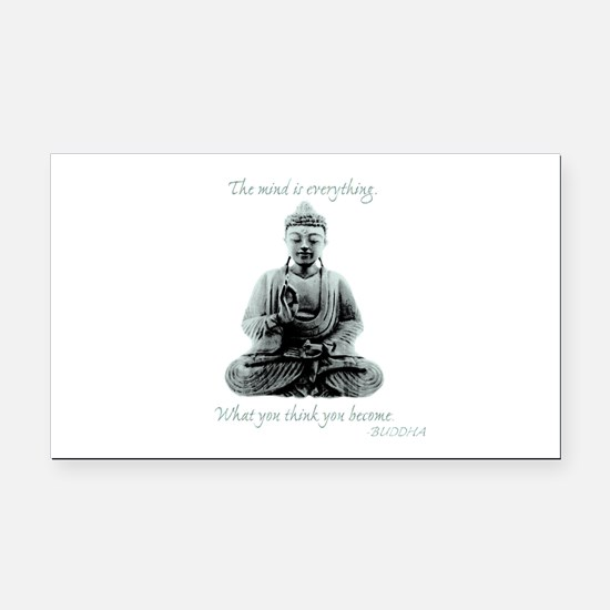 Buddha quote : Mind is Everything Rectangle Car Ma