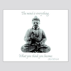 Buddha quote : Mind is Everything Small Poster