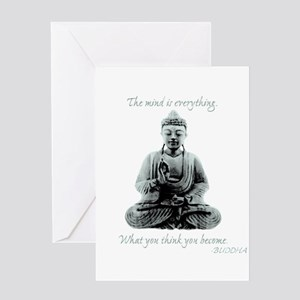 Buddhist monks greeting cards cafepress buddha quote mind is everything greeting card m4hsunfo