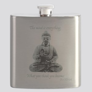Buddha quote : Mind is Everything Flask