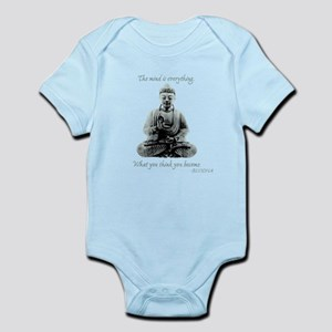 Buddha quote : Mind is Everything Infant Bodysuit