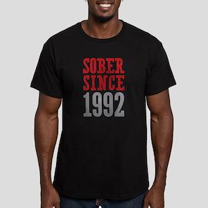 Sober Since 1992 Men's Fitted T-Shirt (dark)