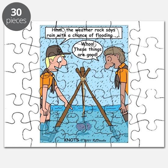 Weather Rock Rain Puzzle