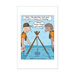 Weather Rock Rain Mini Poster Print
