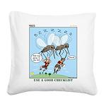 Bug Spray Square Canvas Pillow