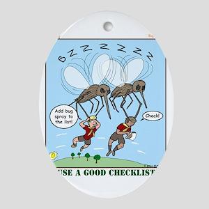 Bug Spray Ornament (Oval)