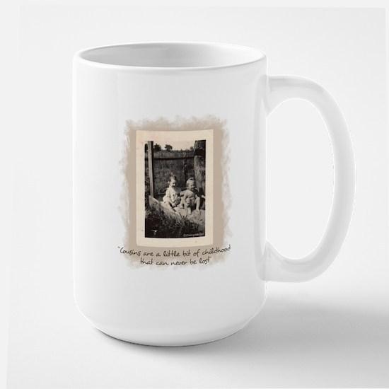 Cousins and Childhood Large Mug