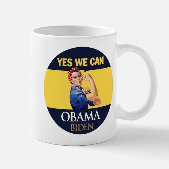 Obama Yes Rosie the Riveter Mug