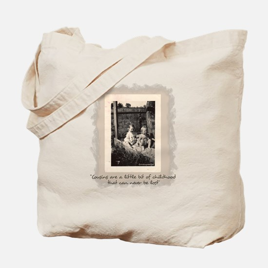 Cousins and Childhood Tote Bag