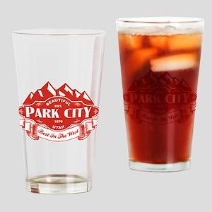 Park City Mountain Emblem Drinking Glass