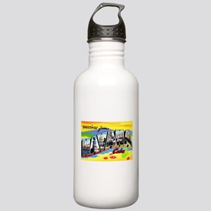 Havana Cuba Greetings Stainless Water Bottle 1.0L