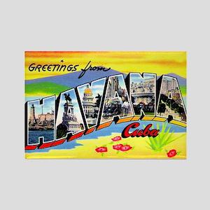 Havana Cuba Greetings Rectangle Magnet
