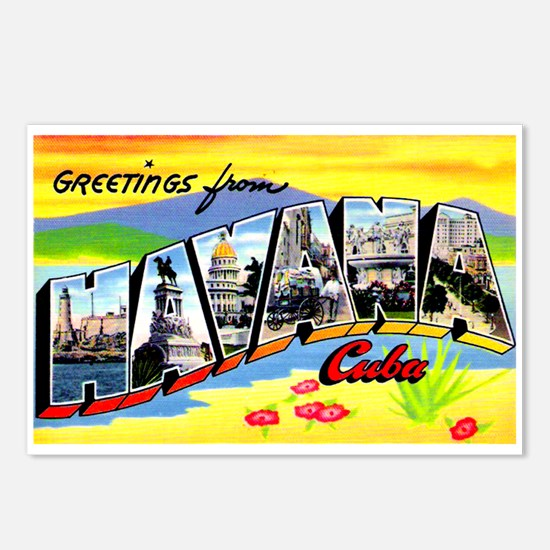 Havana Cuba Greetings Postcards (Package of 8)