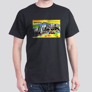 Havana Cuba Greetings Dark T-Shirt