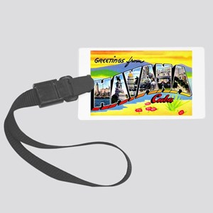 Havana Cuba Greetings Large Luggage Tag