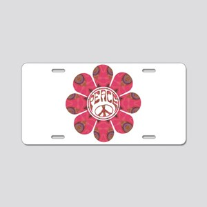 Peace Flower - Affection Aluminum License Plate