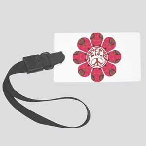 Peace Flower - Affection Large Luggage Tag