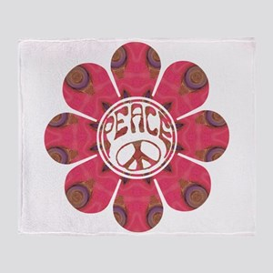 Peace Flower - Affection Throw Blanket