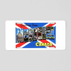 Montreal Quebec Canada Aluminum License Plate