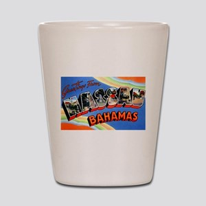 Nassau Bahamas Greetings Shot Glass