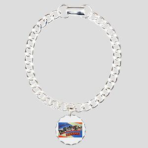Nassau Bahamas Greetings Charm Bracelet, One Charm