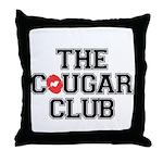 The Cougar Club Throw Pillow