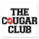 The Cougar Club Square Car Magnet 3
