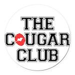 The Cougar Club Round Car Magnet