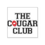 The Cougar Club Square Sticker 3