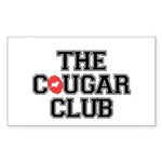 The Cougar Club Sticker (Rectangle 50 pk)