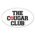 The Cougar Club Sticker (Oval 10 pk)