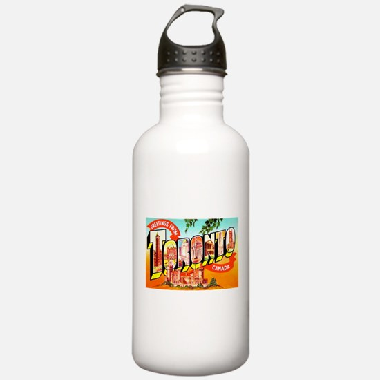 Toronto Ontario Canada Greetings Water Bottle